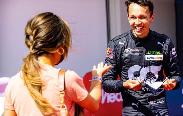 Александер Элбон одержал первую победу в DTM
