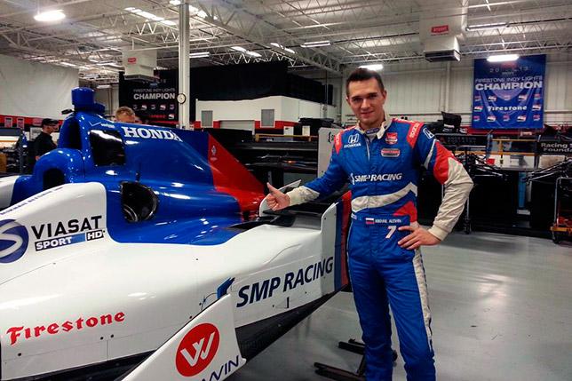 Михаил Алёшин на тестах IndyCar