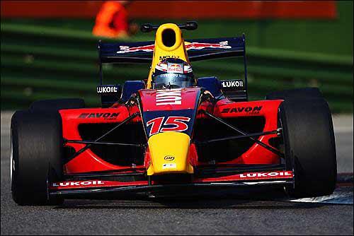 Михаил Алешин за рулем машины Формулы 2