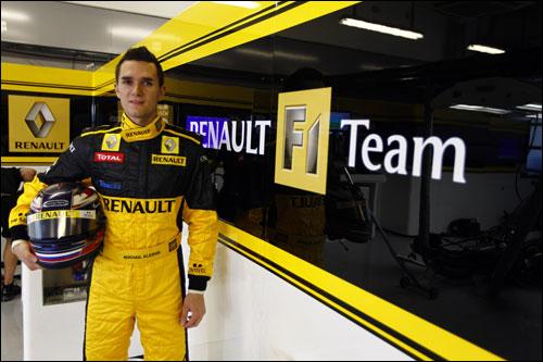 Михаил Алешин на тестах Renault F1