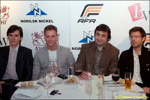 Слева направо: Михаил Алешин, Антон Небылицкий, Дмитрий Сапгир, Бруно Бессон