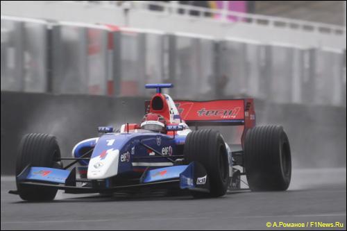 Михаил Алёшин в первой гонке на Хунгароринге