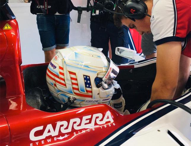 Хуан-Мануэль Корреа за рулём Sauber C32 на тестах в Ле-Кастелле