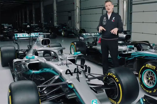 Джеймс Эллисон, технический директор Mercedes, сравнивает две машины Mercedes – новую и прошлогоднюю