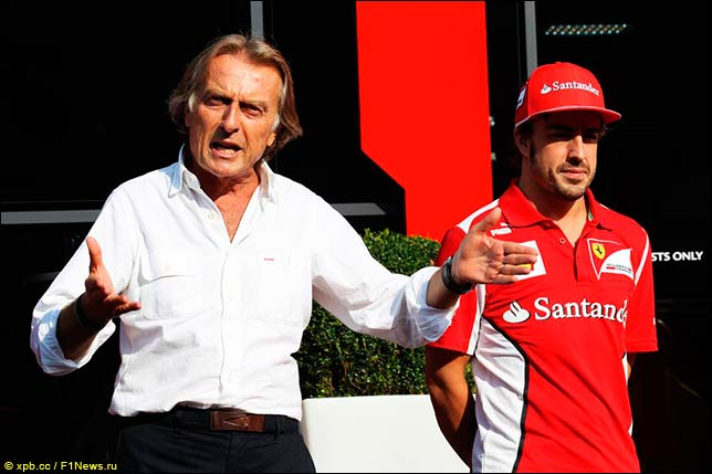 Лука ди Монтедземоло и Фернандо Алонсо в 2012-м