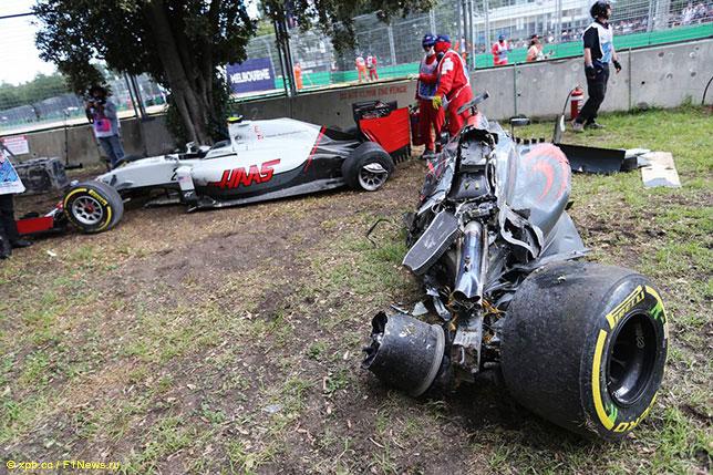 McLaren Фернандо Алонсо после аварии в Мельбурне
