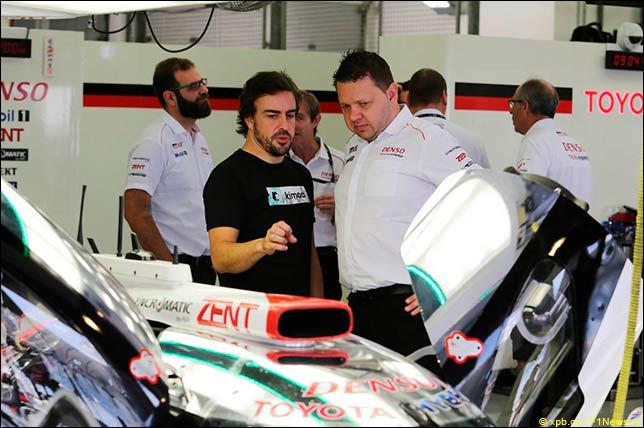 Алонсо провёл тесты за рулём Toyota в WEC