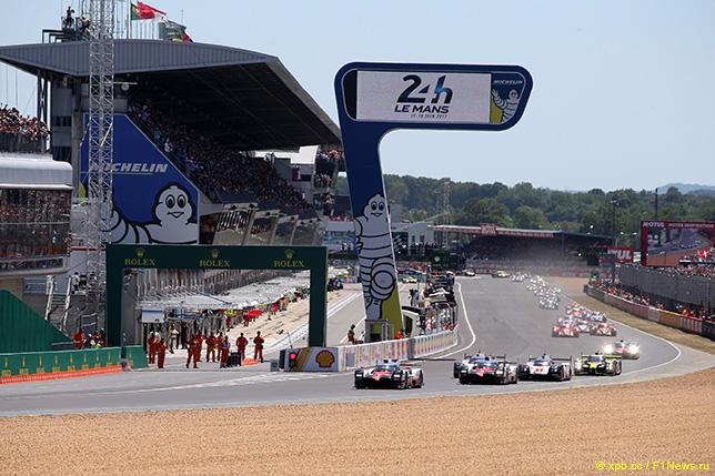 Старт гонки в Ле-Мане, 2017 год