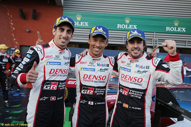 Фернандо Алонсо, Казуки Накаджима и Себастьен Буэми – победители 6-часовой гонки в Спа