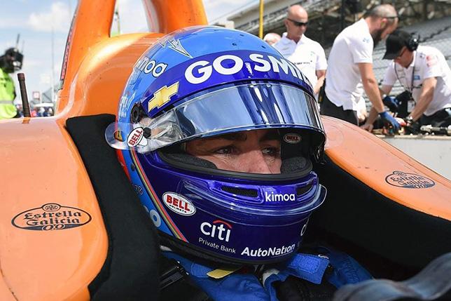 Видео: Алонсо разбил машину на тестах Инди-500