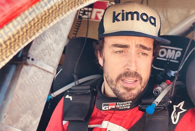 У Алонсо проблемы в первый день Rallye du Maroc