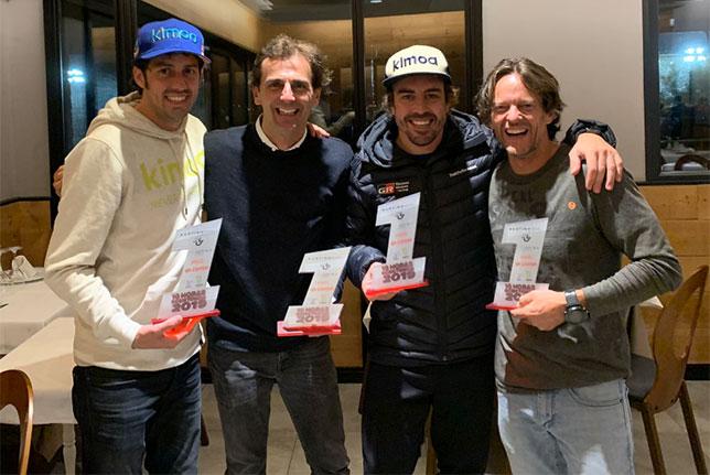 Команда Фернандо Алонсо - победитель 10-часового картингового марафона, фото из Twitter гонщика