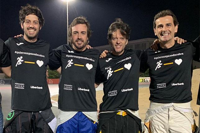 Команда Алонсо заняла 3-е место в картинговом марафоне