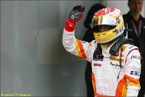 Фернандо Алонсо после финиша Гран При Испании