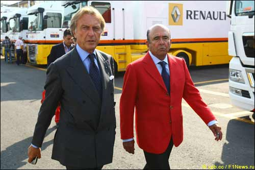 Лука ди Монтедземоло (слева) и глава банка Santander Альфредо Саенц