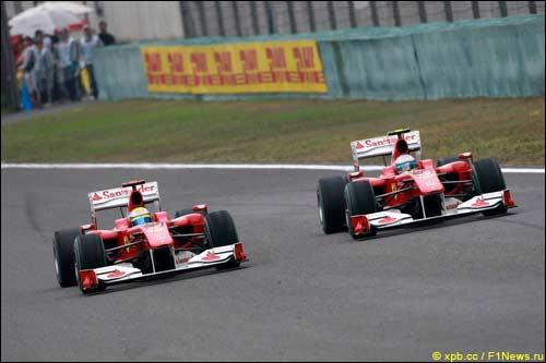 Гонщики Ferrari на трассе Гран При Китая