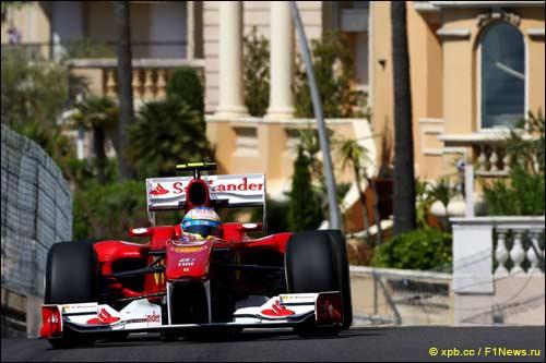 Фернандо Алонсо на Гран При Монте-Карло