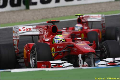 Гонщики Ferrari на трассе Гран При Германии