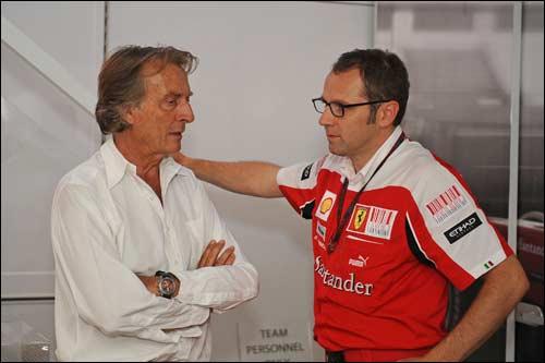 Президент Ferrari Лука ди Монтедземоло и глава Скудерии Стефано Доменикали