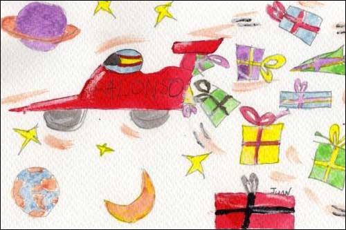 Открытка, победившая к рождественском конкурсе, проводившемся в Испании