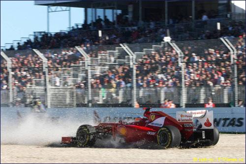 Ошибка Фернандо Алонсо на квалификации Гран При Австралии