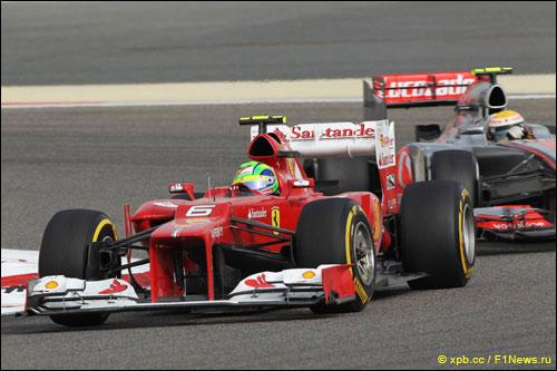 Фелипе Масса на трассе Гран При Бахрейна