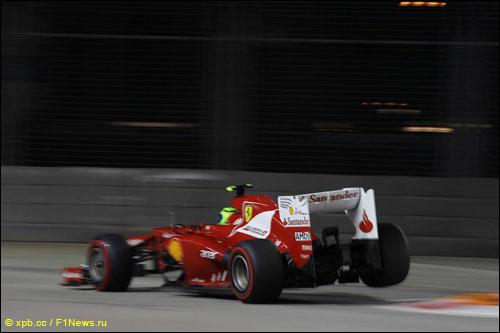 Фелипе Масса на трассе Гран При Сингапура