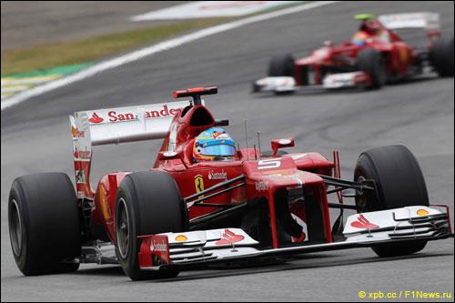 Фернандо Алонсо и Фелипе Масса на Гран При Бразилии