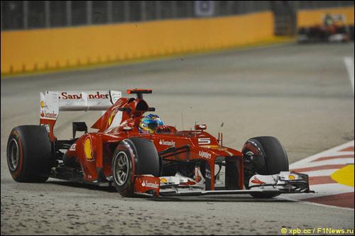 Фернандо Алонсо в Гран При Сингапура 2012