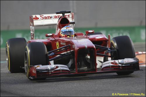 Фернандо Алонсо на квалификации в Абу-Даби