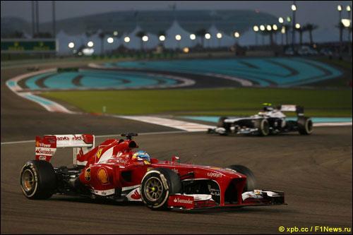 Фернандо Алонсо на Гран При Абу-Даби