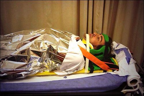 Фернандо Алонсо по дороге в госпиталь, 3 ноября, Абу-Даби