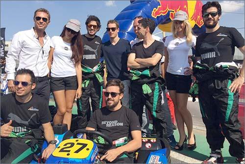Команда Фернандо Алосно на 24-часовой картинговой гонке в Дубае