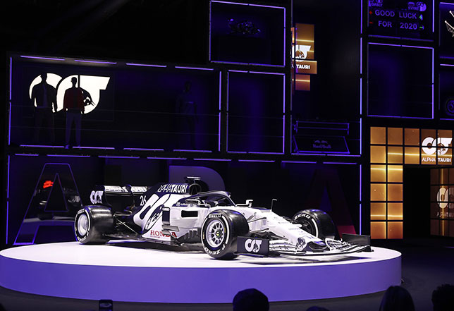 Машина AT01 на презентации AlphaTauri
