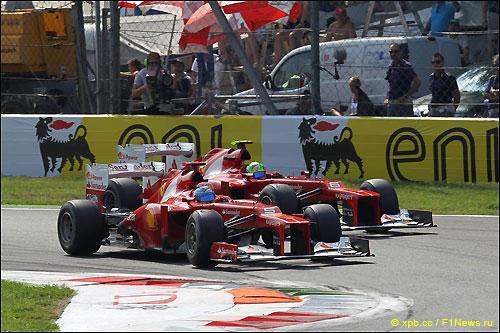 Ferrari на трассе в Монце, 2012 год
