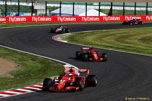 Гран При Японии. Гонщики Ferrari