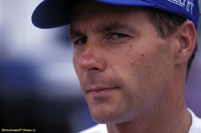 Герхард Бергер во времена выступлений за Benetton