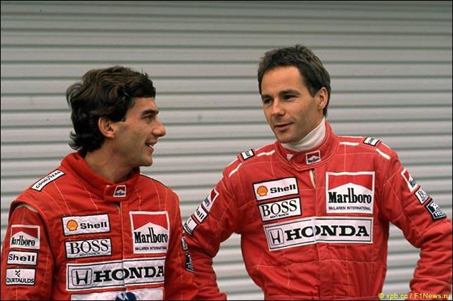 Айртон Сенна и Герхард Бергер в McLaren