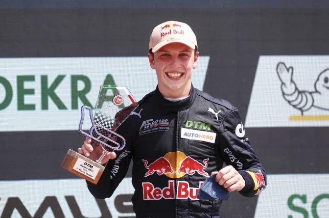 Лиам Лоусон, победитель гонки DTM в Монце, фото XPB