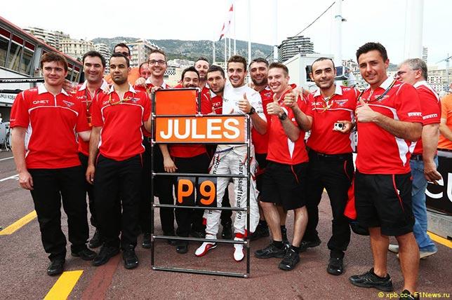 В Marussia празднуют девятое место Жюля Бьянки