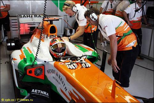 Жюль Бьянки на Гран При Абу-Даби