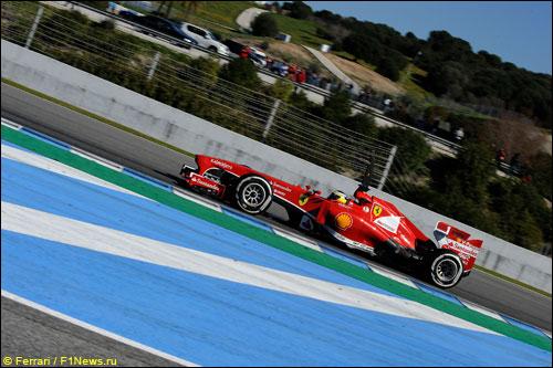 Педро де ла Роса на тестах Ferrari