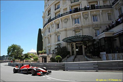 Жюль Бьянки на трассе в Монако