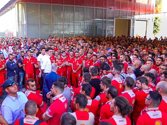 Торжества в Маранелло, посвящённые победам Шарля Леклера