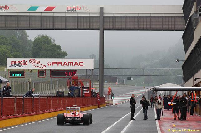 Ferrari на тестах в Муджелло, май 2012 года