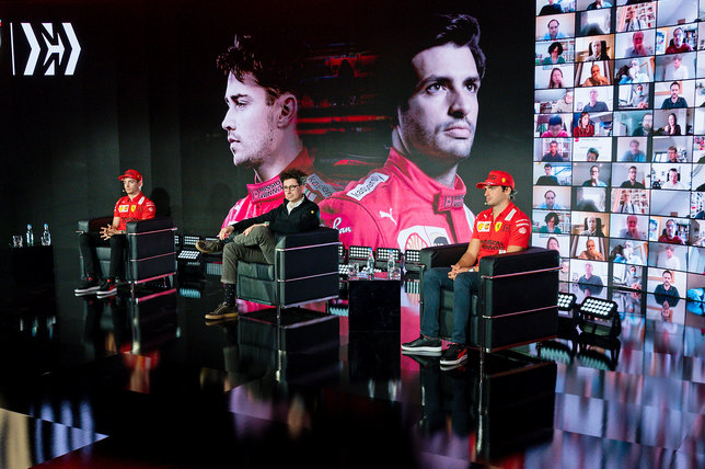 Шарль Леклер, Маттиа Бинотто и Карлос Сайнс (фото Ferrari)