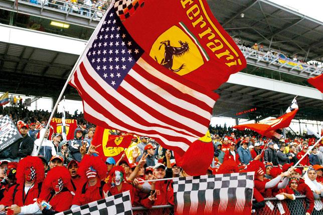 Болельщики Ferrari в США