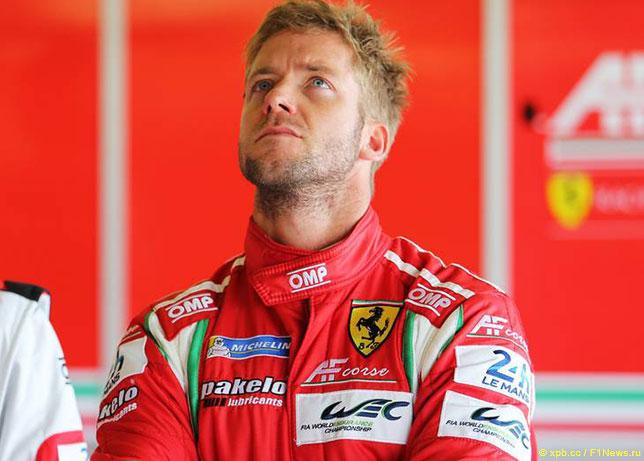 Сэм Бёрд выступал за Ferrari в WEC с 2014 года