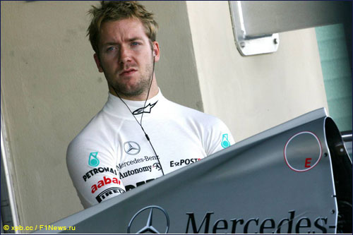 Сэм Бёрд на молодёжных тестах Ф1 в Абу-Даби