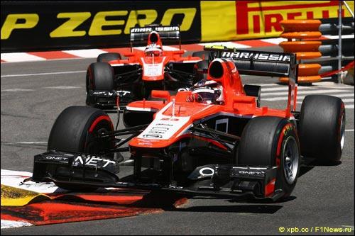 Пилоты Marussia на Гран При Монако